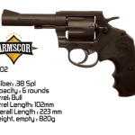 Revolver Armscor, cal.38 special, barrel 4.  Price: RM 1,750